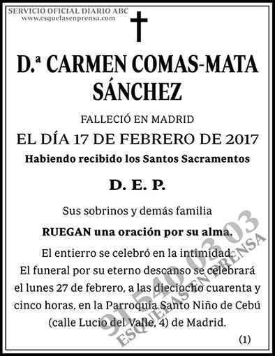 Carmen Comas-Mata Sánchez